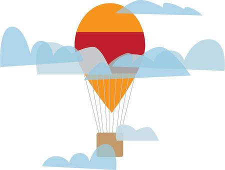 soar: Soar through the skies in a hot air balloon. Illustration