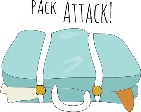 packed: Travel with a packed suitcase.