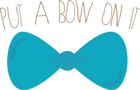 adds: A bowtie adds class to any outfit. Illustration