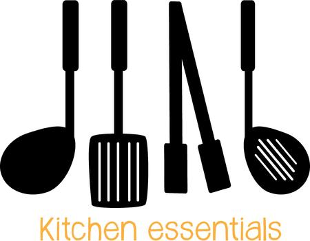 stocked: Have good utensils for a well stocked kitchen.