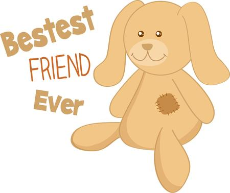 stuffed: Children love to have a special stuffed friend.
