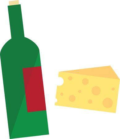 wine and cheese: Age doesnt matter unless you are cheese or wine. Illustration