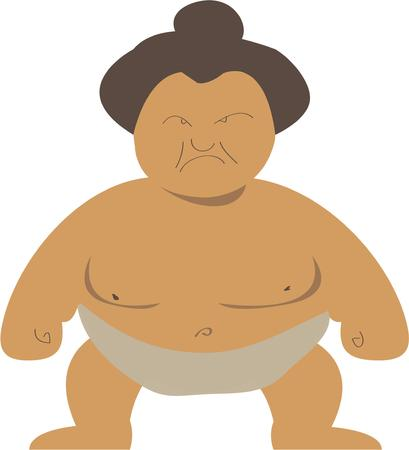 eastern culture: Put a fun sumo guy on a project for a sports enthuasist. Illustration