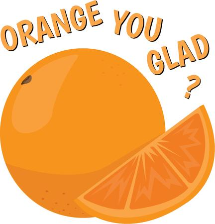 florida citrus: A juicy orange will look good in any kitchen. Illustration