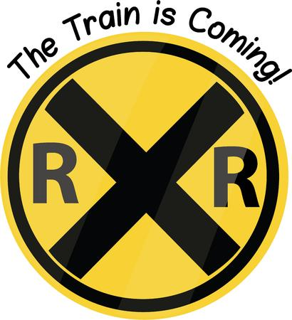railroad crossing: Men love trains and will like a railraod sign.