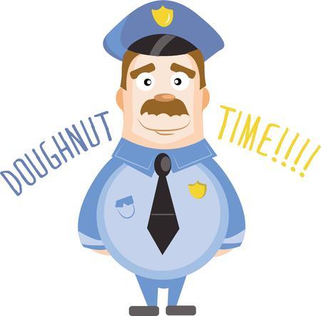 patrolman: A cute policeman will keep the law. Illustration