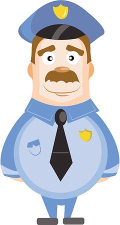 cops: A cute policeman will keep the law. Illustration