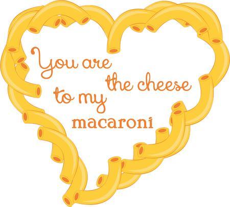 macaroni: Kids have been making macaroni hearts for many years.