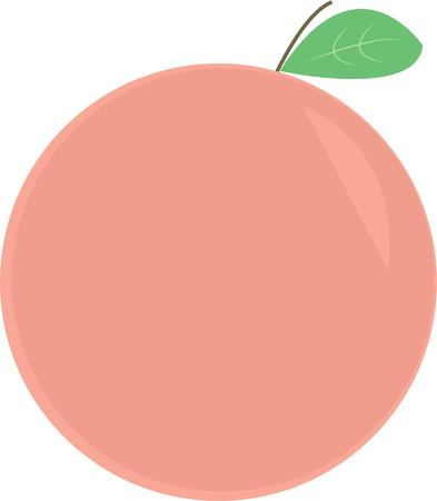 cling: A delicious peach is a great decoration for any kitchen.