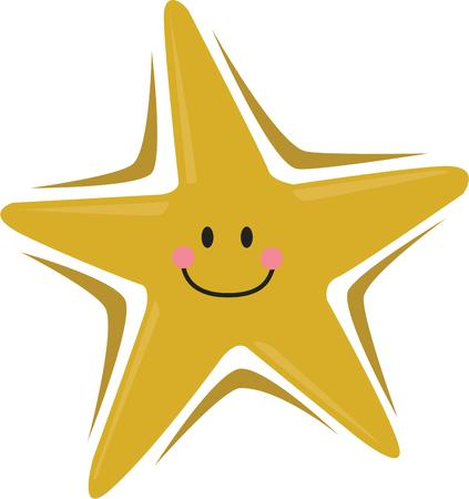 brighten: A happy star will brighten up any project.