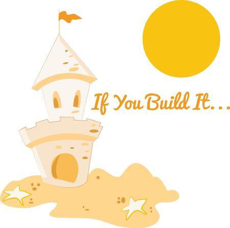 castle sand: Un castillo de arena es una gran decoraci�n de playa.