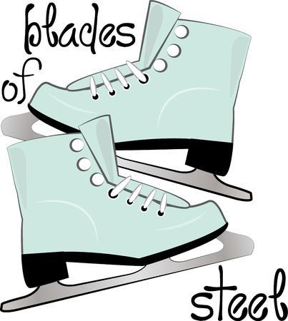 skaters: Skaters will enjoy these lovely skates. Illustration