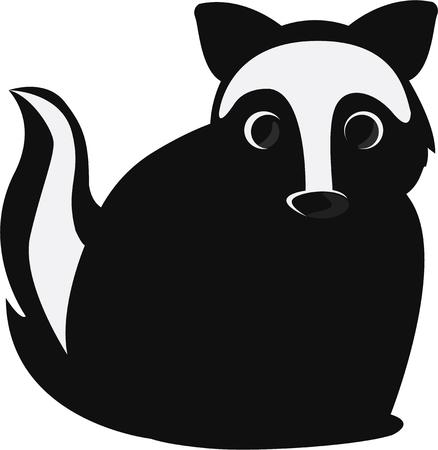 skunk: A cute skunk is a furry friend.