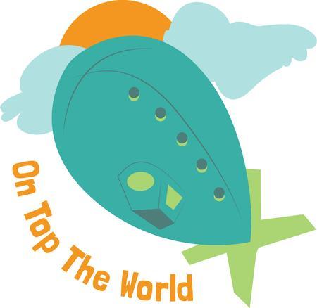 blimp: Un dirigible es un globo de la diversi�n en el cielo.