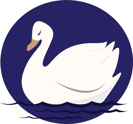 swans: Swans are an elegant bird for any decor. Illustration