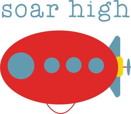 hindenburg: Kids love flying toys. Illustration