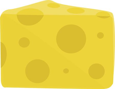 wedge: Make a beautiful wedge of cheese for a kitchen project. Illustration