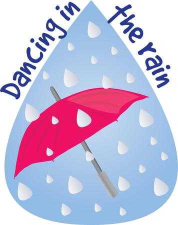 brolly: Make a rainy day project with an umbrella. Illustration