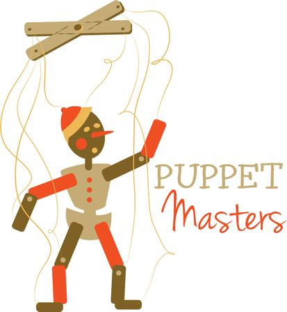 marionette: A classic toy for play time fun is a marionette.