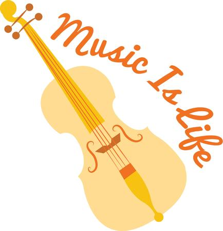 stringed instrument: Make beautiful music with a great stringed instrument. Illustration