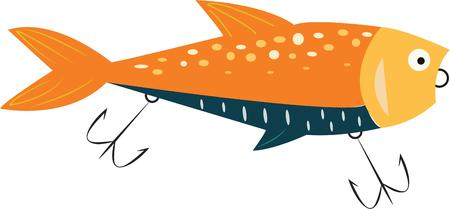 lure: Fishermen will love this great lure for their hobby. Illustration