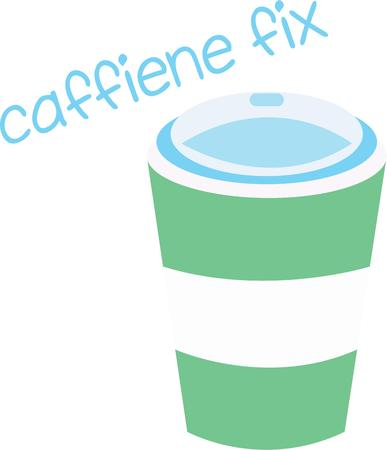 caffiene: A cup of coffee is good at anytime. Illustration