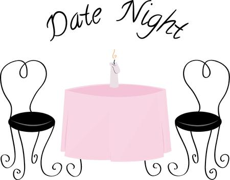 date night: Set the table for a romantic evening.
