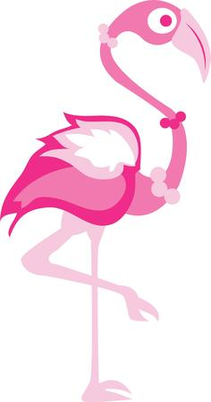 fowls: Pink flamingos are a classic summer decoration.