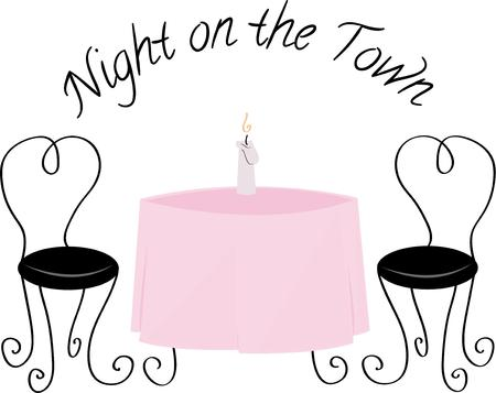 flame letters: Set the table for a romantic evening.