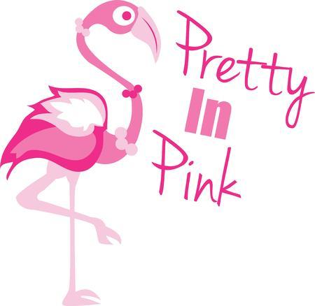 flamingi: Różowe flamingi są klasycznym lato dekoracji.