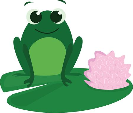 lily pads: A happy frog will look nice on a garden themed project.