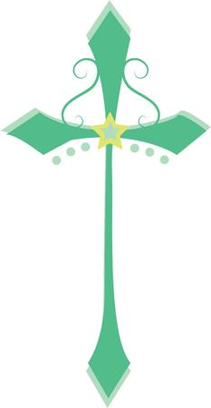 calvary: Display this cross to show your faith. Illustration