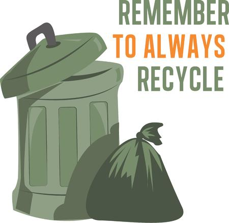littering: Use this trash bin on your littering project. Illustration