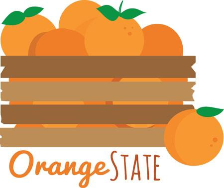 crate: This crate of oranges for any Florida orange lover.