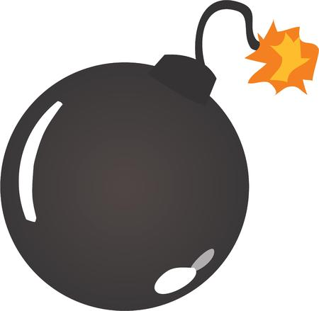blowup: This bomb design will be perfect for any explosive project. Illustration