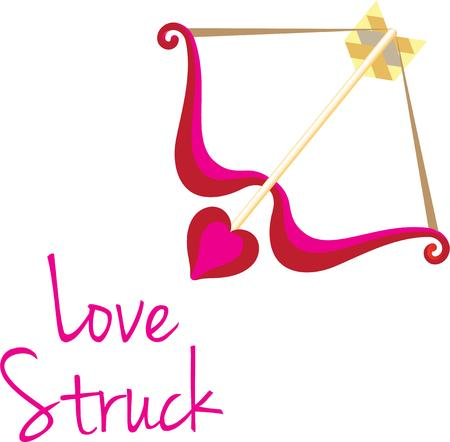 struck: Use this bow and arrow for your Valentine project. Illustration