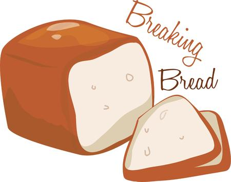 bread loaf: This bread loaf will be cute on an apron or kitchen linen.