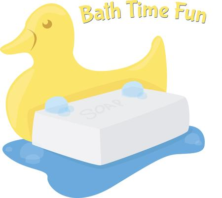 bathtime: Make bathtime fun with a rubber duck and some soap.