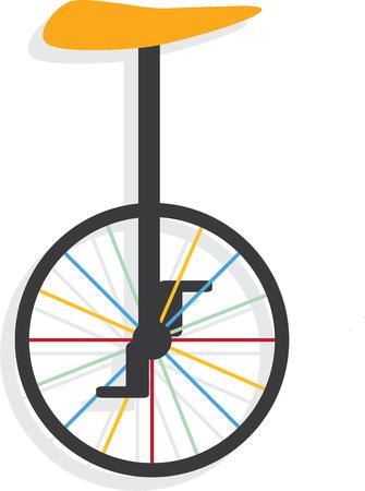 unicycle: Your unique son will love this unicycle. Illustration
