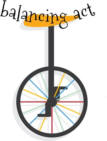 balancing act: Your unique son will love this unicycle. Illustration