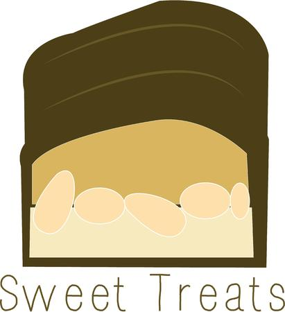 candy bar: A candy bar is a great snack. Vettoriali