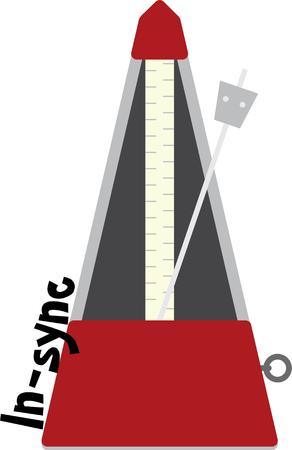 Use this metronome for your music teacher or favorite student. Vector