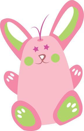 cottontail: Pascua no est� completa sin el conejo de rabo. Vectores