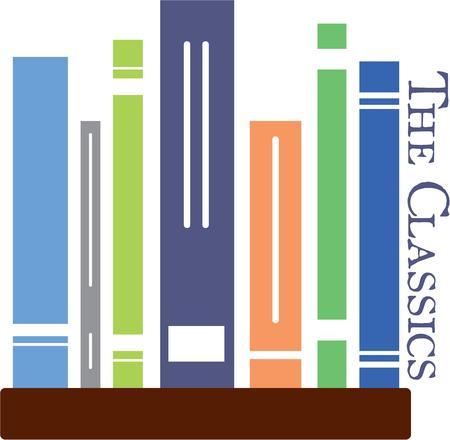 avid: The avid reader will love this book design. Illustration