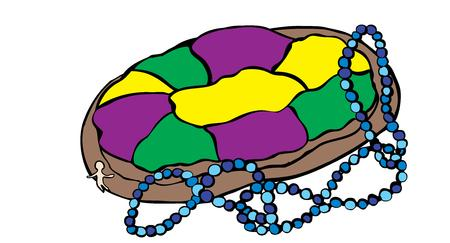 fat tuesday: Celebrate Mardi Gras with a king cake.