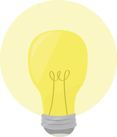 show off: Show off a bright idea with a light bulb. Illustration