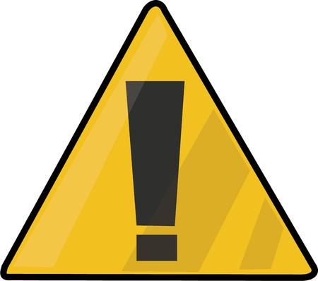 triad: Use this sign for a warning. Illustration