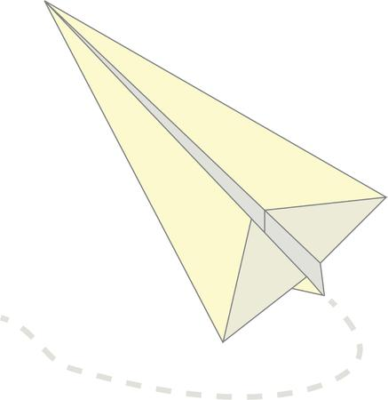 aerodynamic: Remember your school days with this paper airplane.