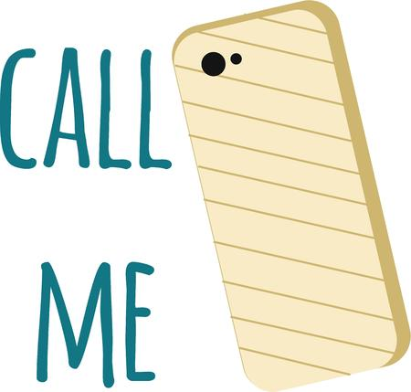 call me: Use this cell phone cover for your trendiest friend. Illustration