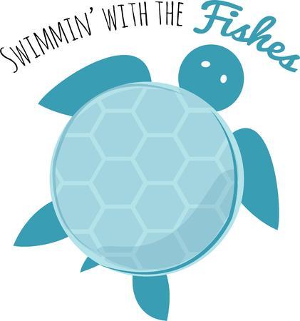 sea turtle: This sea turtle will look fun on a tshirt.